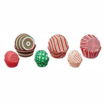 Cápsulas cupcakes y mini cupcakes surtidas Navidad Wilton