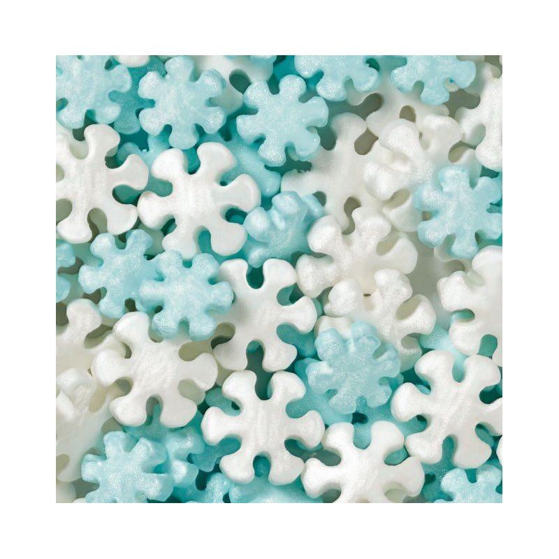 Copos De Nieve Para Decorar Fiesta Frozen.Sprinkles Copos De Nieve Celeste Y Blanco Nacarados Wilton