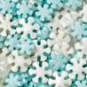 Sprinkles copos de nieve celeste y blanco Nacarados Wilton