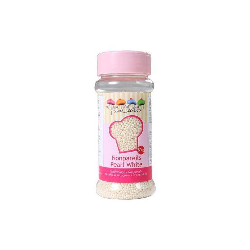 Sprinkles Nonpareils Blanco Nacar Funcakes
