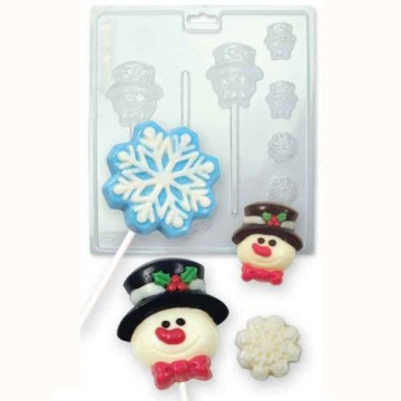 Molde piruletas y bombones Navidad PME