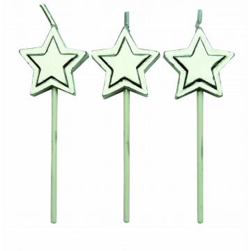 Velas Estrellas Plateadas PME