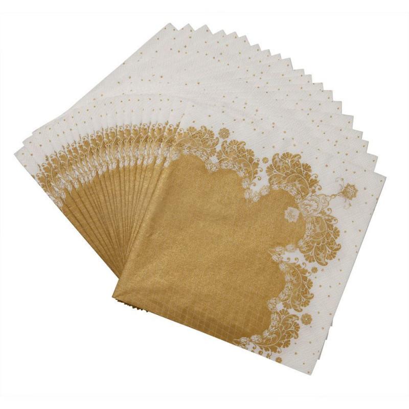 Servilleta de papel Porcelana Dorada