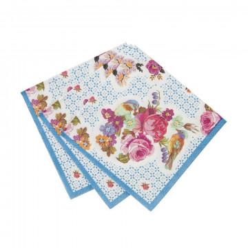 Servilleta de papel mini Floral Vintage Campestre