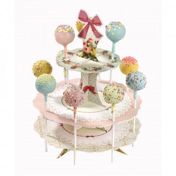 Stand presentación Cakepops Volantes y Glaseado