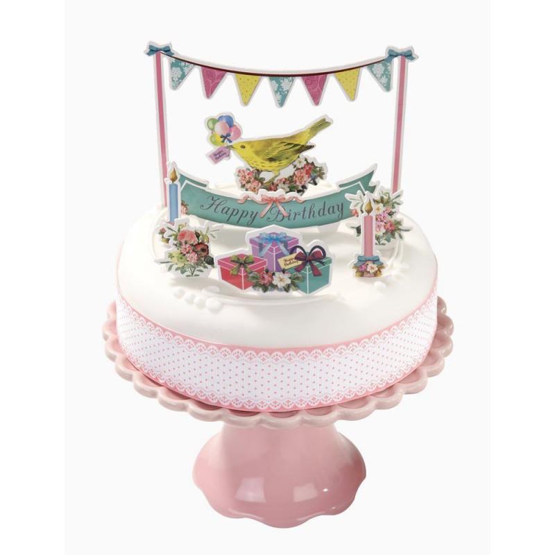 Topper para tartas Volantes y Glaseado