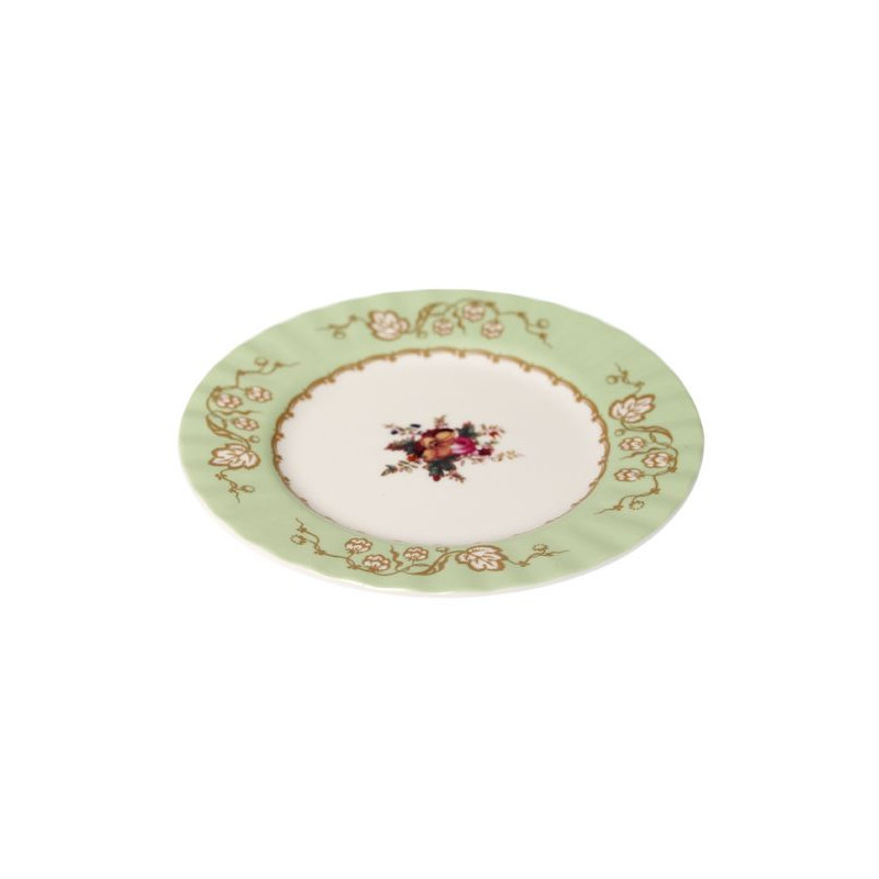Plato de cerámica postre Verde Menta Regency