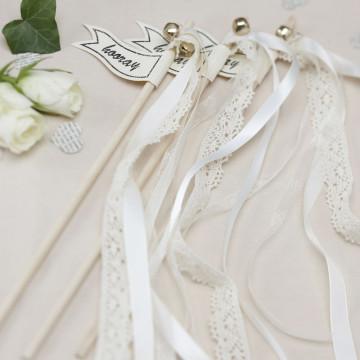 Varitas para fiestas Vintage Blanco