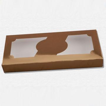 Caja para turrón dorada