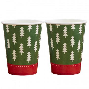 Vasos fiesta Pudding Navidad