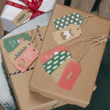 Etiquetas Pudding Navidad