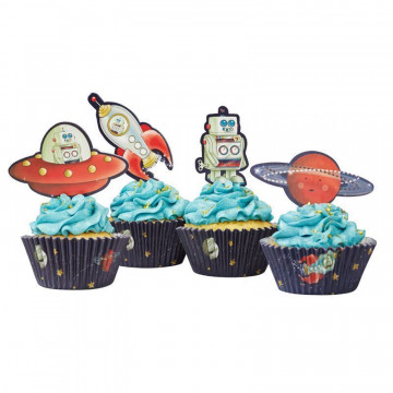 Set para cupcakes: Aventura Espacial