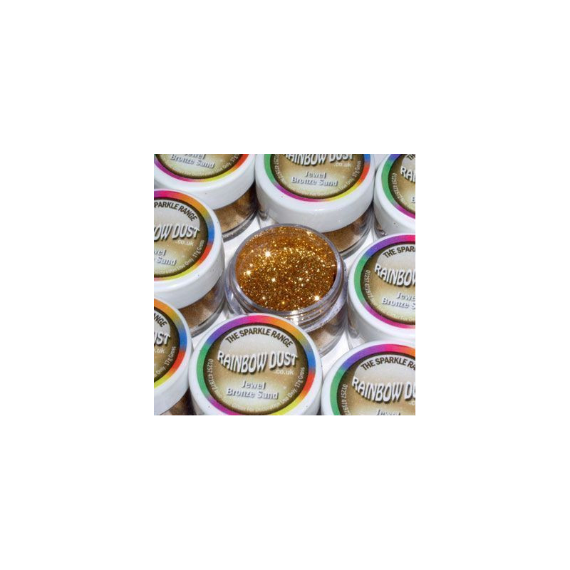 Purpurina fina Decorative Sparkles Jewel Bronze