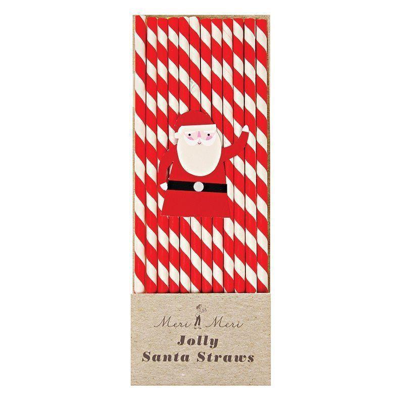 Pajitas de papel Papa Noel