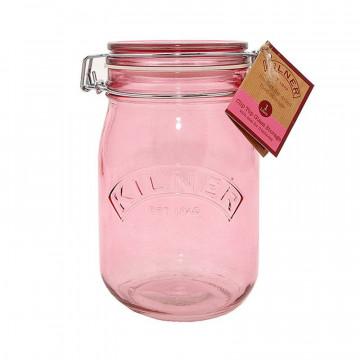 Tarro de cristal hermético Rosa 1 L Kilner