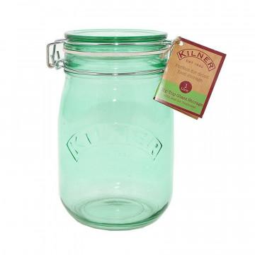 Tarro de cristal hermético Verde 1 L Kilner