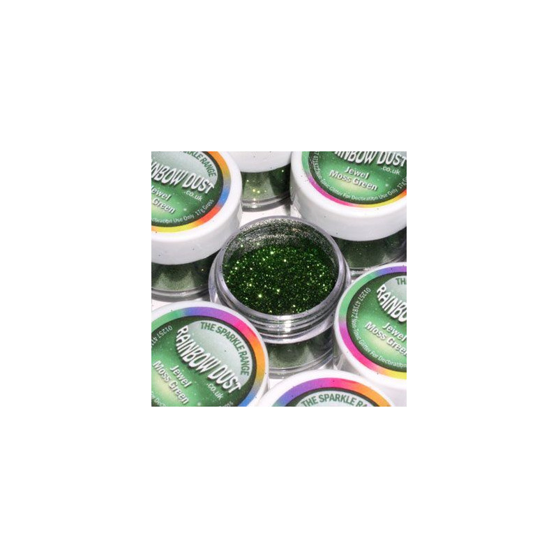 Purpurina fina Decorative Sparkles Jewel Moss Green