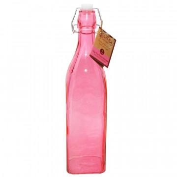 Botella de cristal Rosa 1L Kilner