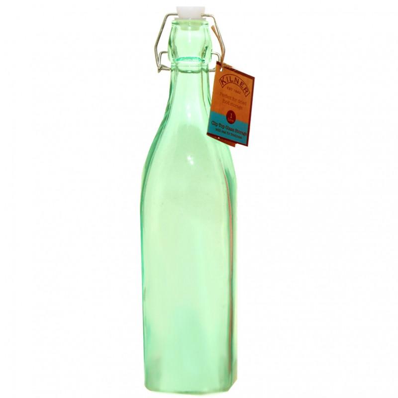 Botella de cristal Verde 1L Kilner