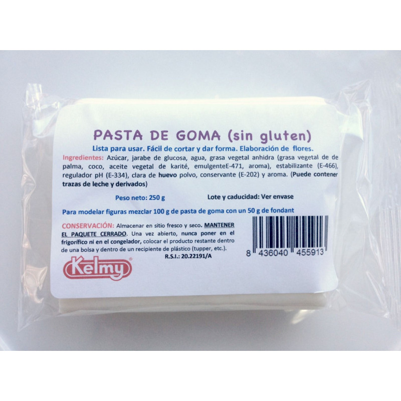 Pasta de goma blanca 250gr Kelmy