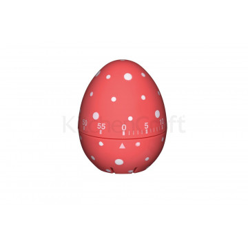 Temporizador de cocina Huevo lunares rosa