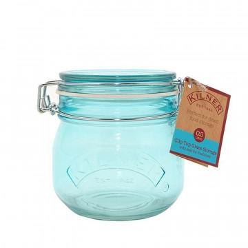 Tarro de cristal hermético Azul 0.5L Kilner