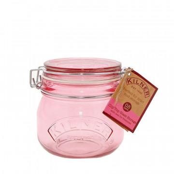Tarro de cristal hermético Rosa 0.5L Kilner