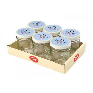 Bote de cristal con tapa Retro Celeste Crema 190 ml Tala