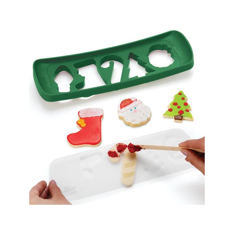 Cortante +  Stencils Christmas Chefn