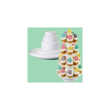 Stand presentación cupcakes 4 Tier Stacked Dessert Tower Wilton