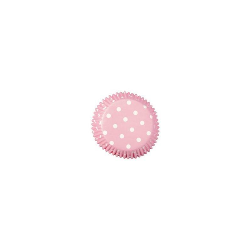 Capsulas cupcakes Dots Pastel Pink Wilton