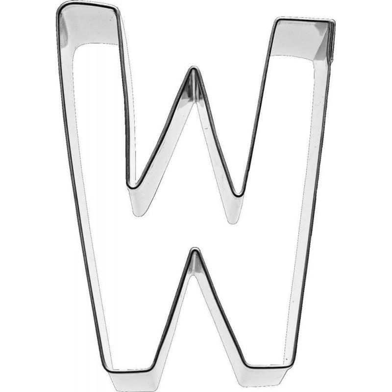 Cortante galleta letra W