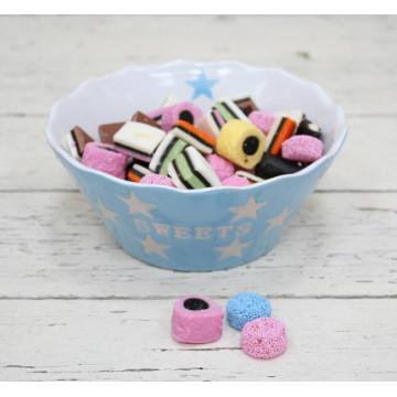 Cuenco Dulces Sweets Azul Pastel Estrellas