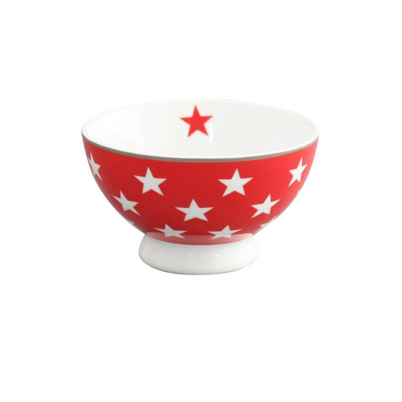 Bol de cerámica Rojo con Estrellas