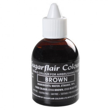 Colorante para aerógrafo Marrón 60ml Sugarflair