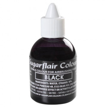 Colorante para aerógrafo Negro 60ml Sugarflair