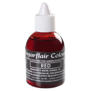 Colorante para aerógrafo Rojo 60ml Sugarflair