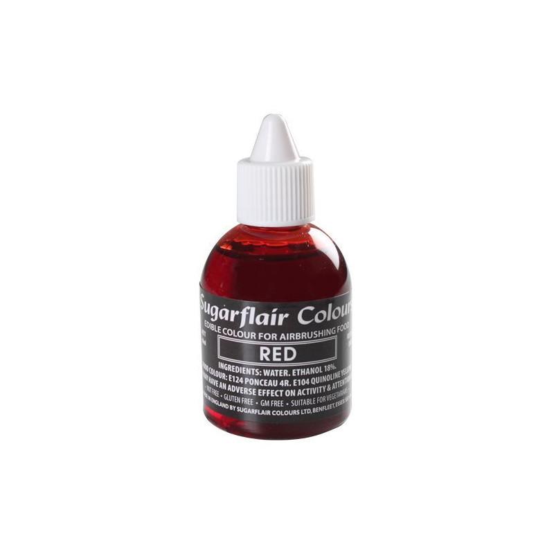 Colorante para aerógrafo Rojo 60ml Sugarflair