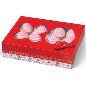 Caja 12 cupcakes Amor San Valentín Wilton