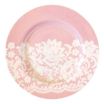 Plato de cerámica postre pequeño Liva Pink Green Gate