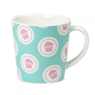 Tazón de leche Verde Menta con cupcakes Lily´s Cupcakes