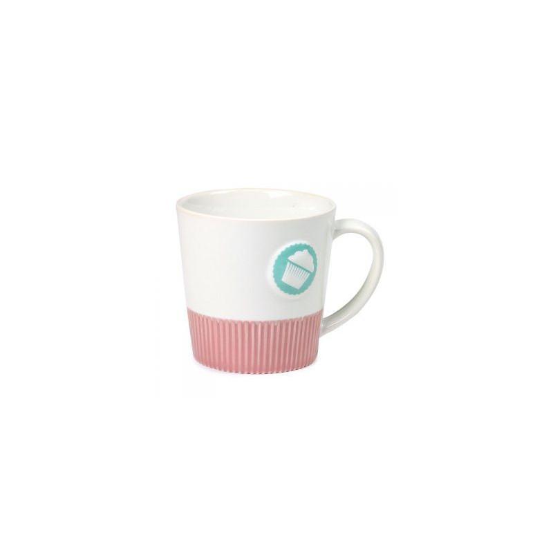 Tazón de leche Blanco y Rosa Lily´s Cupcakes