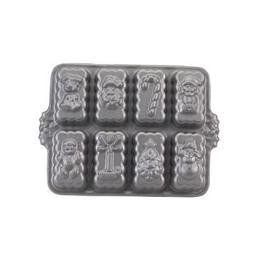 Platinum Holiday Mini Loaf Pan Nordic Ware
