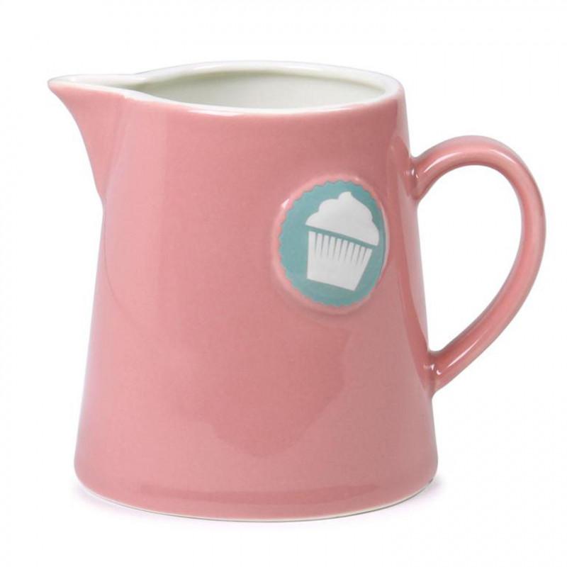 Lechera de cerámica Rosa con cupcake Lily´s Cupcakes