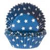 Cápsulas cupcakes azul con estrellas HoM