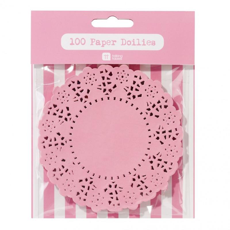 Tapete de papel 100 unidades Rosa