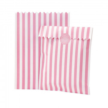 Bolsas de papel Rosa Rayas