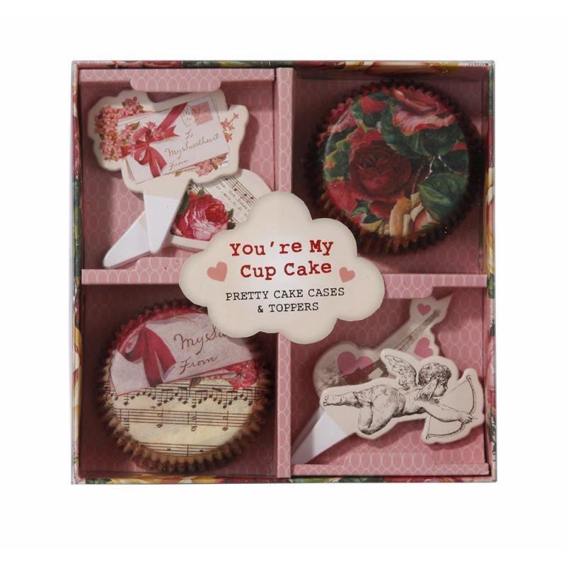 Set para cupcakes: Love Talk