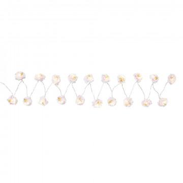 Guirnalda de luces Flores Blancas
