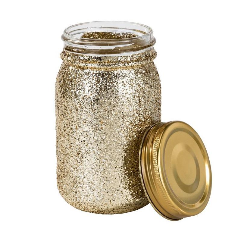 Jarrón de cristal dorado